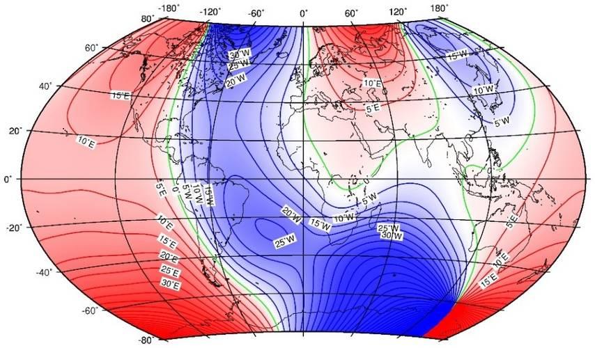 میدان مغناطیسی زمین,IGRF,مدل میدان مغناطیسی زمین,IAGA, DGRF ,مدل میدان مرجع ژئومغناطیسی بین المللی