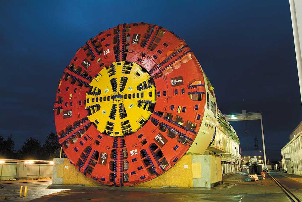 تونل,نقشه برداری زیرزمینی,TBM