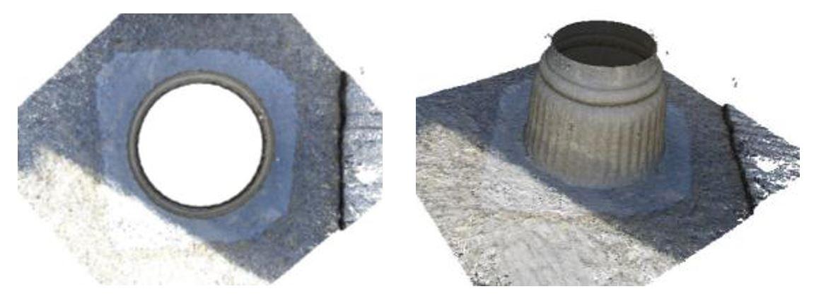 مدل سه بعدی یک پایه ستون,محوطه میراث جهانی تخت جمشید