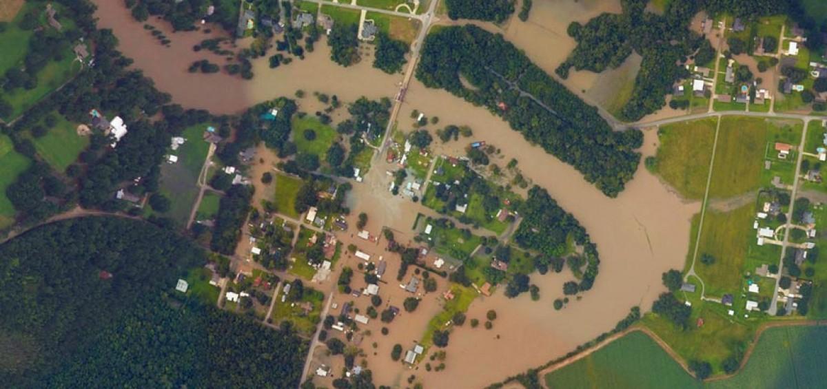 سیل در ایالت لوئیزیانا | عکس هوایی