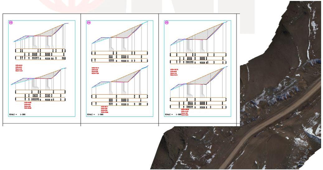 برداشت کریدوری,قسمتی از پروفیل عرضی مسیر ,uav,جهان نقشه پرداز,پهپاد فتوگرامتری