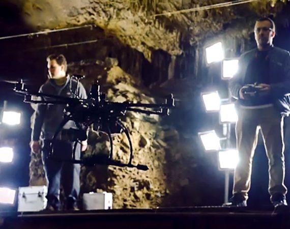 استفاده از پهپاد در غار