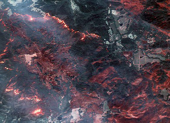 تصویر ماهواره ای آتش سوزی
