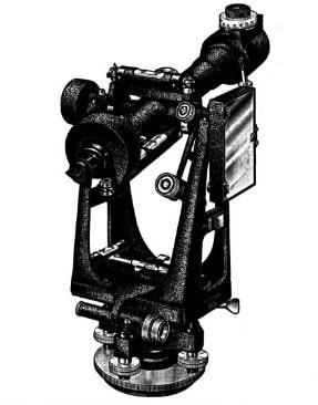 تلسکوپ و نقاله دارای نگهدارنده و هدایت کننده
