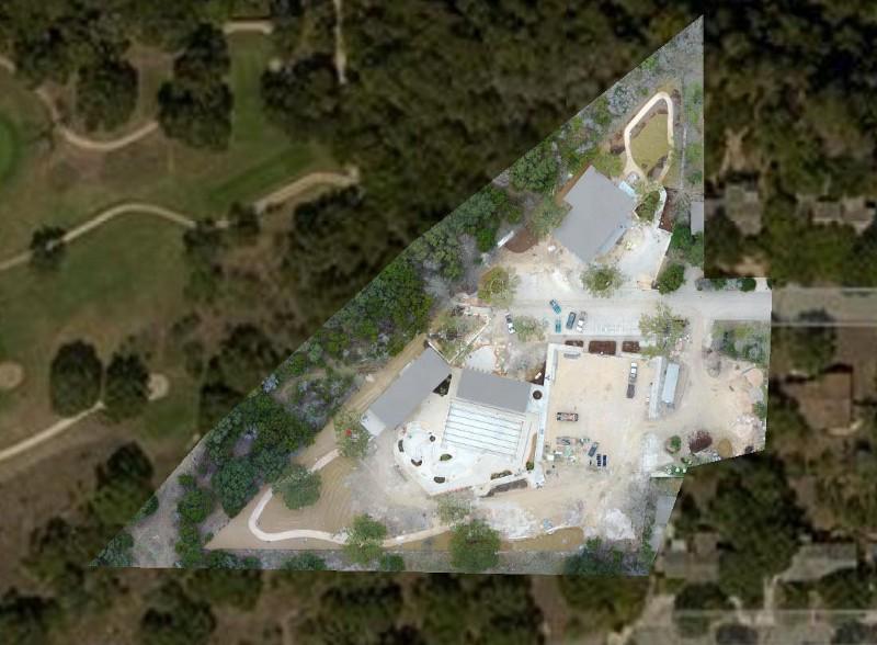 نقشه معاملات املاک تهیه شده پس از تغییر دستی تنظیمات دوربین در DJI Mavic