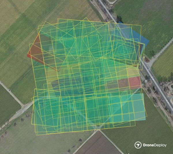 تصویری از یک پرواز نقشه برداری با DroneDeploy