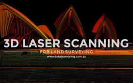 اسکن لیزری سه بعدیبرای نقشه برداری زمینی