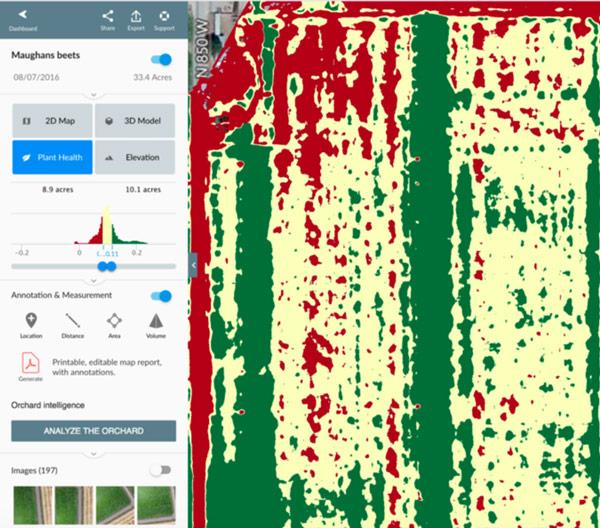 نقشه 10.5 هکتاری از مزرعه چغندر قند.