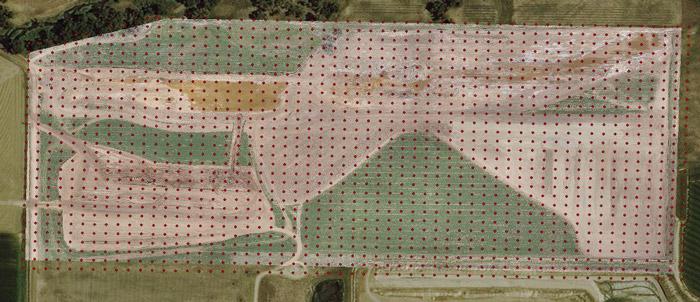 ۱۶۳۲ شات GPS در منطقه ای ۸۵٫۴ جریبی