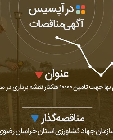 استعلام بها جهت تامین 10000 هکتار نقشه برداری در سه روستا