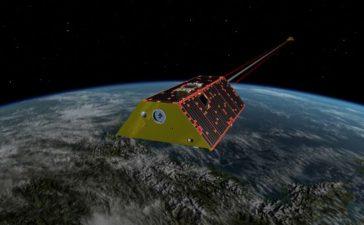 نمایش GRACE-FO در مدار (عکس از: NASA/JPL-Caltech)