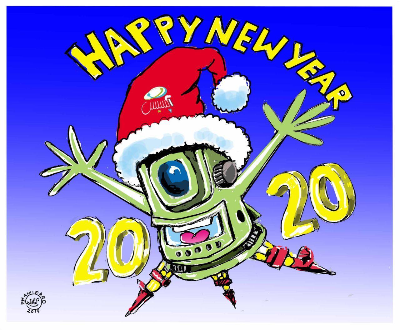 کاریکاتور تبریک سال نو میلادی ویژه نقشه برداران