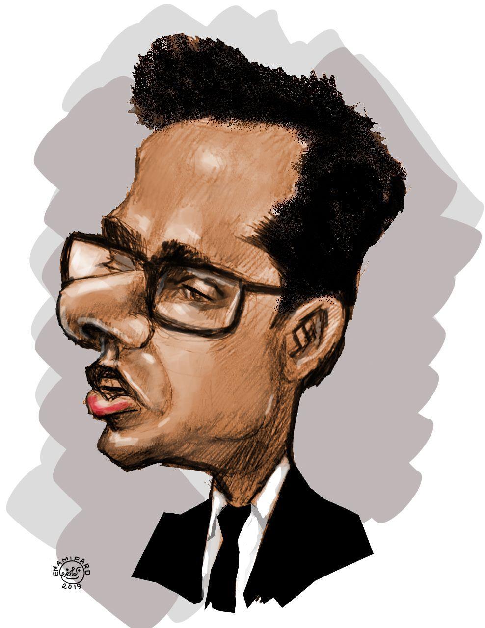 کاریکاتور مهندس محمد میرزاعلی مدرس دوره های نظام مهندسی نقشه برداری