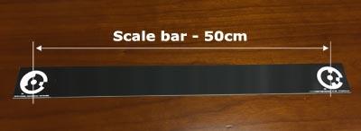 نوار پلاستیکی به همراه تارگت های کد دار برای مقیاس دهی خودکار