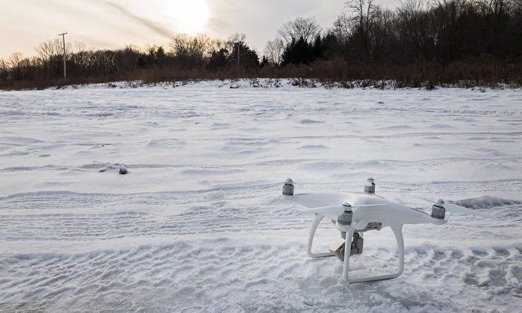 فتوگرامتری پهپاد در مناطق برفی