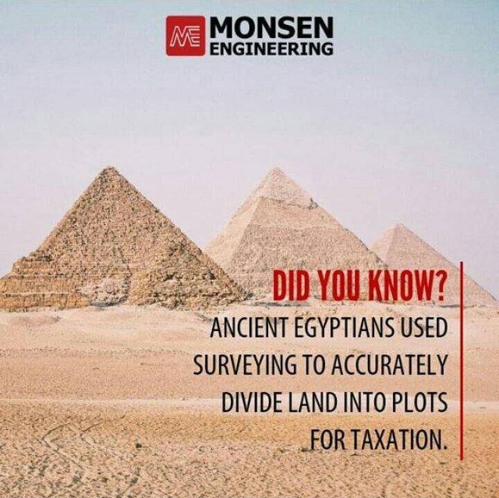 مصریان باستان دانش نقشه برداری را به کار گرفتند تا برای اجرای قوانین مالیاتی، زمین ها را قطعه بندی کنند.