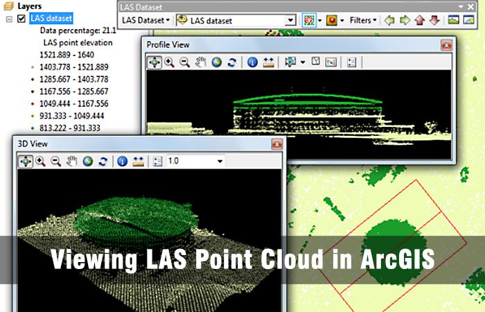 وارد کردن ابر نقطه به محیط GIS